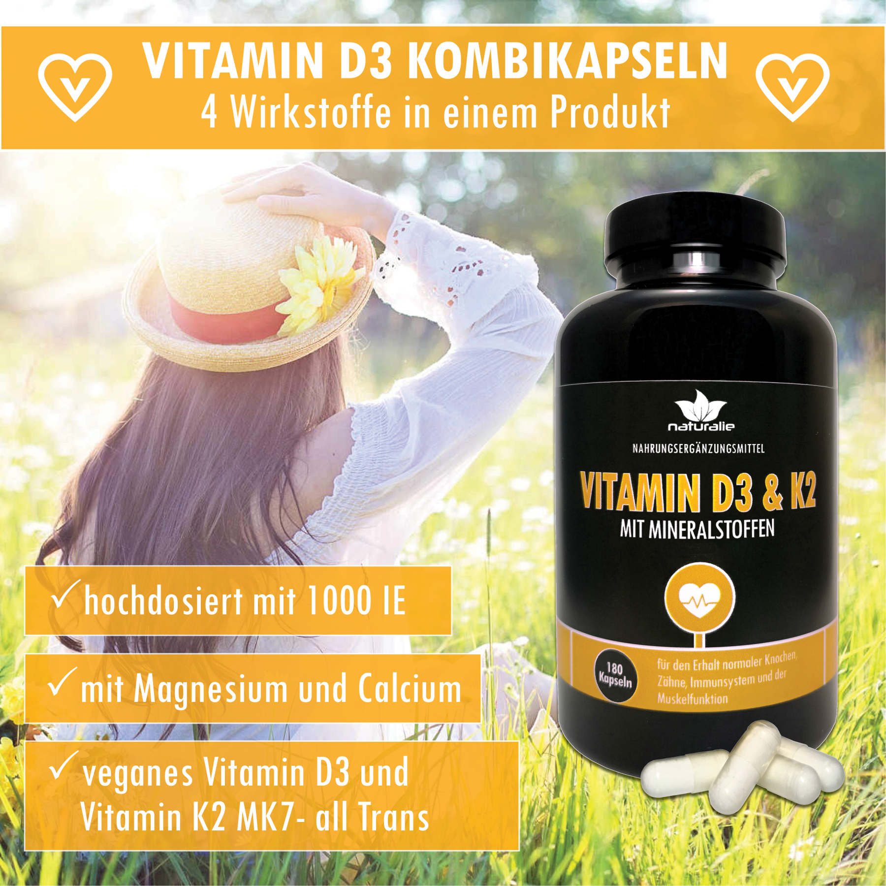 vitamin d3 und k2 mk7 hochdosiert vegan mit mineralstoffen doppelpack ebay. Black Bedroom Furniture Sets. Home Design Ideas