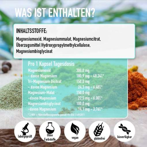 magnesium inhaltsstoffe